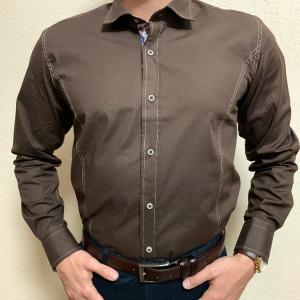Нарядная рубашка под запонки