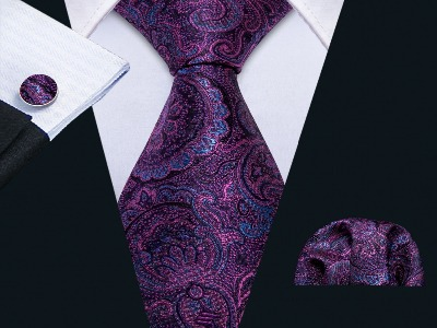 Набор галстук, запонки, платок